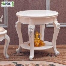 Furniture living room coffee table side a few corner French European paint wooden desk teasideend