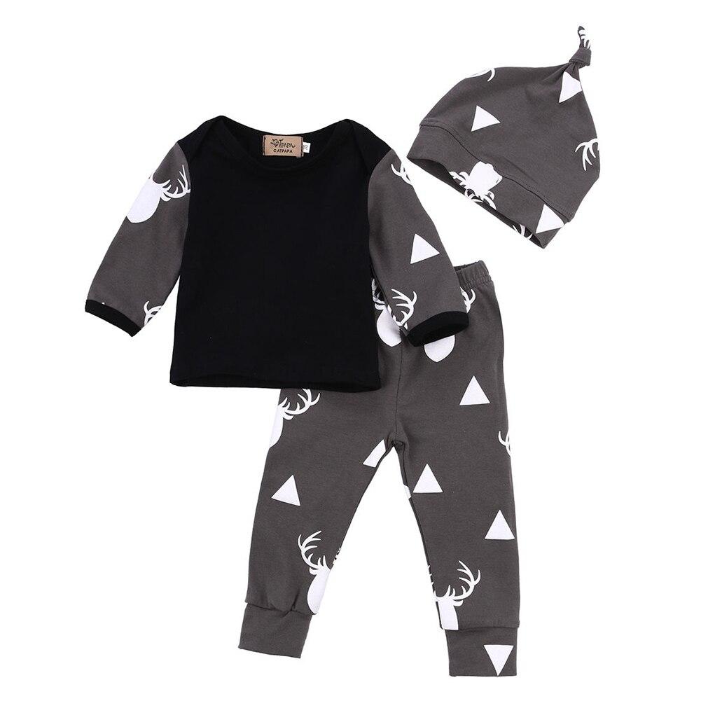 3 stücke Neugeborenes Baby Kleidung Gesetzt Frühjahr Herbst Stil ...