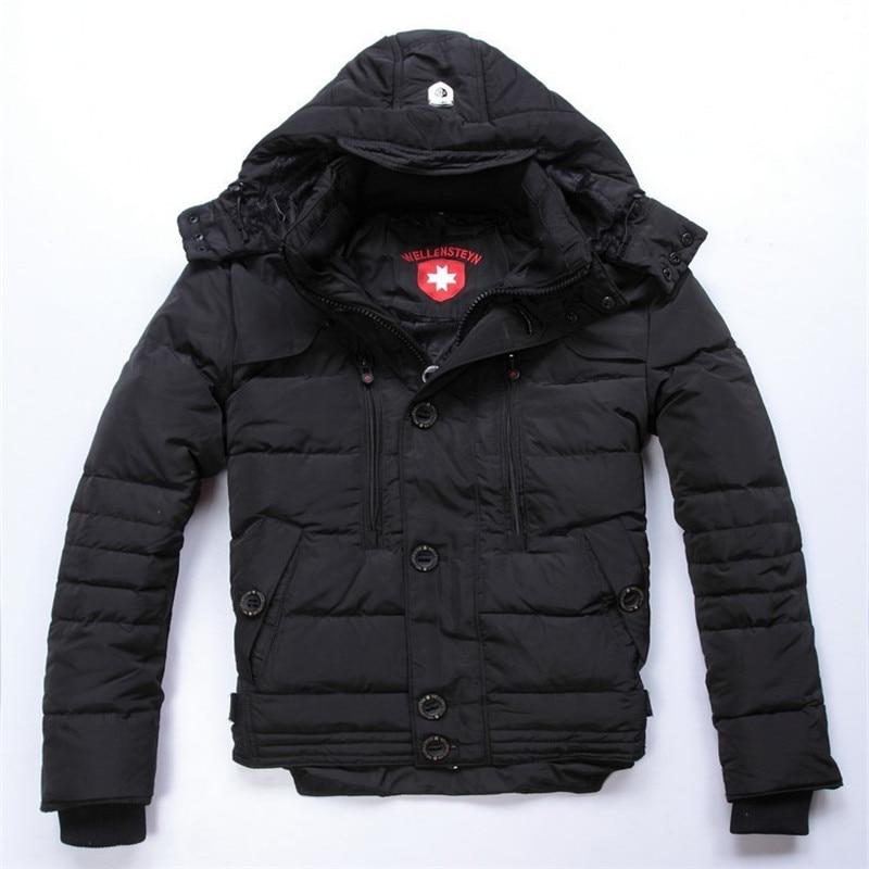 Одежда высшего качества wellensteyn Для мужчин Парка на пуху Куртка 2016 Новинка зимние модные толстые теплые пальто человек верхняя одежда на молнии черный Dow