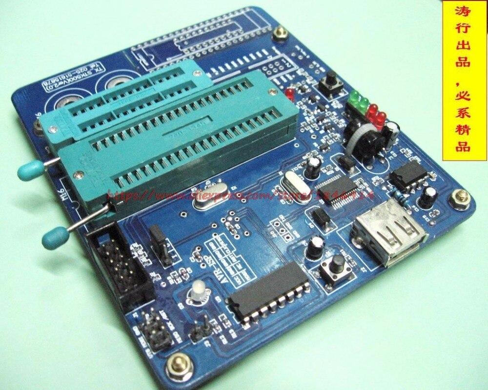 Бесплатная доставка USB интерфейс AVR высоковольтный предохранитель реставратор программист AVR M8/M16 параллельно программист STK500