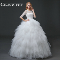 Elegant Bridal Dress Gowns Wedding Dress 2016 Sweetheart Beaded Corset Ball Gown Dress White Lace Flowers
