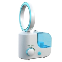 Home Humidifier, Leafless Fan Humidifier Mini Silent Large Capacity Essential Oil Diffuser(Eu Plug)