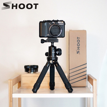 SHOOT Mini Portable Camera Tripod Adjustable Stable Tabletop Desktop Tripod for Go Pro Hero 7 6 5 Canon 60D Nikon Sony Cam Stand