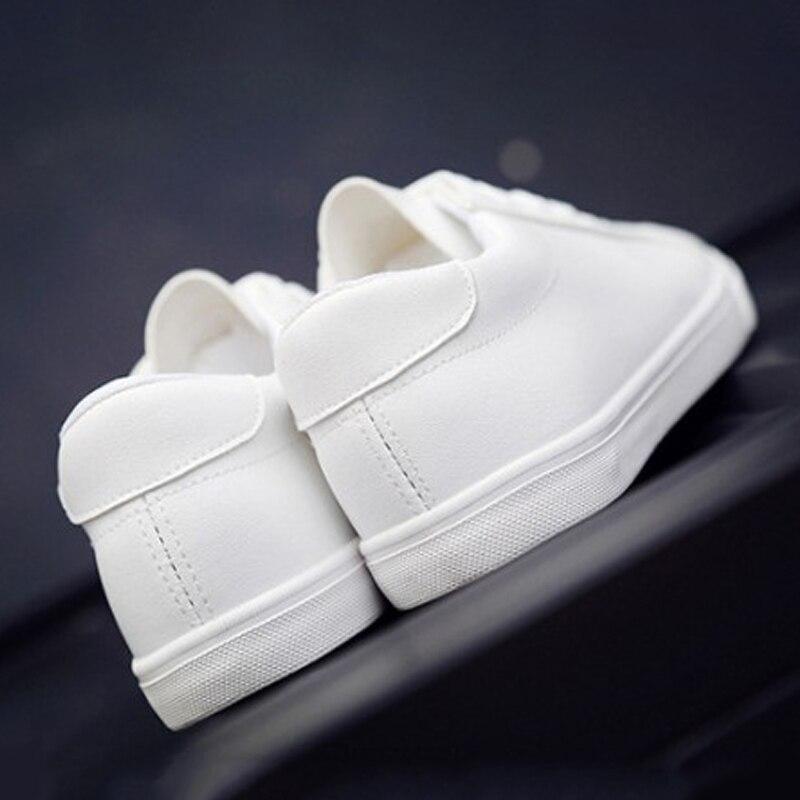 Solide Blanc Cuir Nouvelles Tino white Lacent En Femmes Black De Vulcanisé Mode Dames Femme Plat Kino Casual Pu Chaussures Automne Tennis 577rPqYx