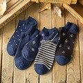 British Style Navy Wind Socks Men Fitness Breathable Fashion Socks Men's Non-slip Low Cut Ankle Length Cotton Socks Slippers