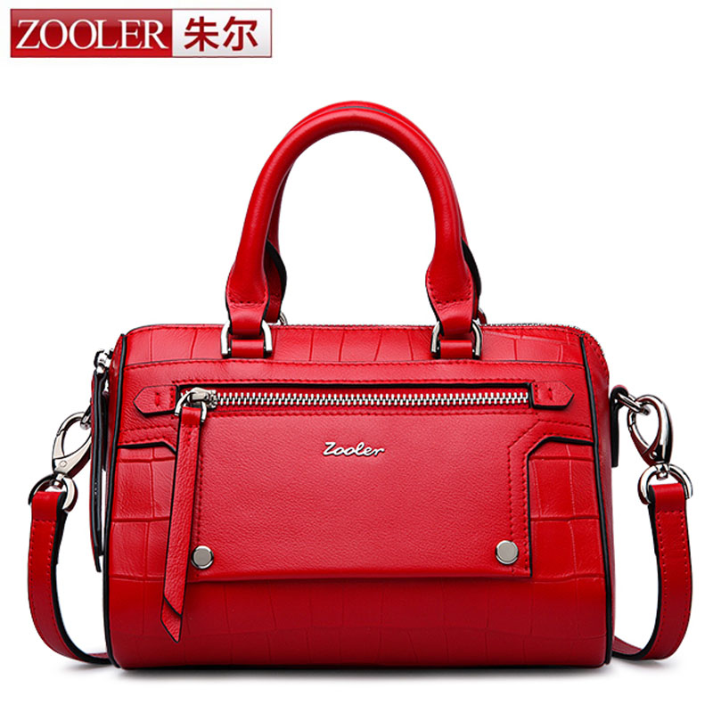 ZOOLER Brand Women Genuine Leather Bags Boston Handbag Shoulder Bag Alligator Pattern Messenger bag Satchel Shoulder Shell Bag пена монтажная mastertex all season 750 pro всесезонная