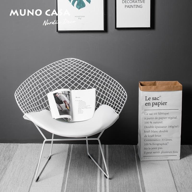 Livraison gratuite U-BEST réplique extérieure Bertoia diamant fil dinant la chaise, matériel chromé diamant chaise en cuir par Harry