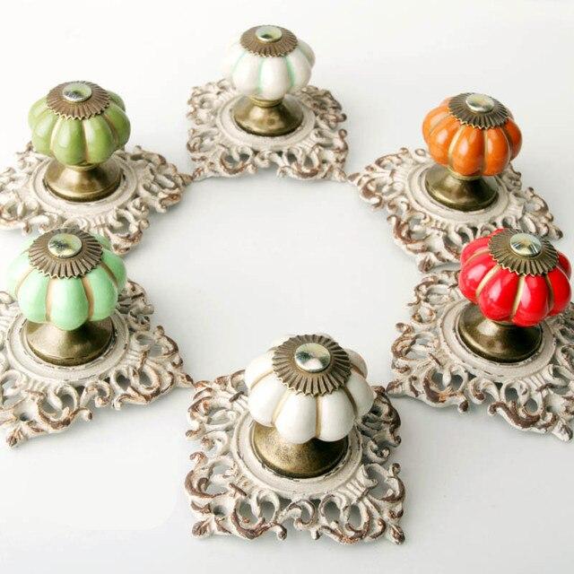 New Style Classic Solid Ceramic Pumpkin Handle/Pull Handle Knob