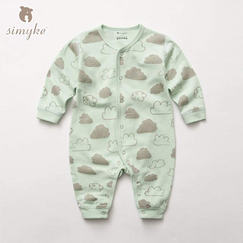 Baby Rompers Long Sleeve 2017 Newborn Baby Girl Boy Clothes Cotton Sleepwear Pajamas Infant Clothing 0-12 Months W5201 baby rompers infant cotton long sleeve baby clothing baby boy girl wear newborn bebe overall clothes