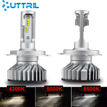 Uttril 4300K 5000K 6500K светодиодный H4 светодиодный H7 светодиодный H11 H1 H3 9005 HB3 9006 HB4 H8 H9 без ошибок автомобиля фары для авто противотуманные фары 12V