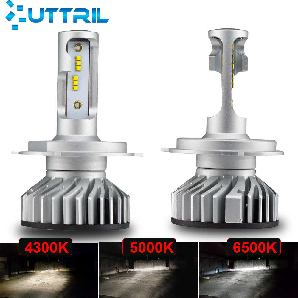 Uttril 4300K 5000K 6500K LED H4 LED H7 LED H11 H1 H3 9005 HB3 9006 HB4 H8 H9 No Error Car Headlight Bulbs  Auto Fog Lights 12V