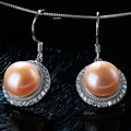 High Quality AAAA 100% Natural Freshwater Pearl Drop Earrings For Women Romantic Elegant High Luster Pearl Gold  Jewelry