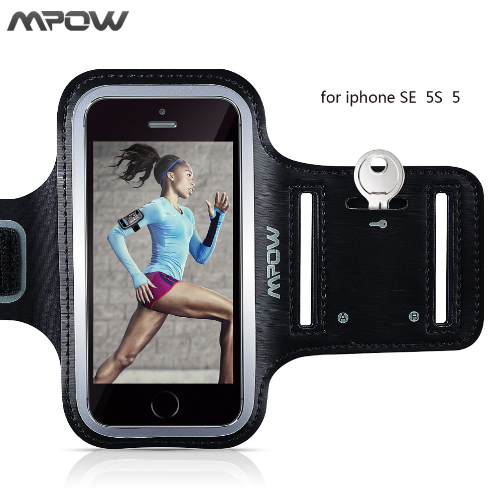 Original Mpow GYM Fitness Sport Armband For iPhone SE 5S 5 5C Sweatproof Arm Band Belt Case For Night Running Hiking Walking
