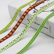 Самая большая коллекция 3/8 дюймов(9 мм/10 мм/1 см) печатные корсажные ленты цветочные звезды парусник флаг животное полосатый Гепард панда