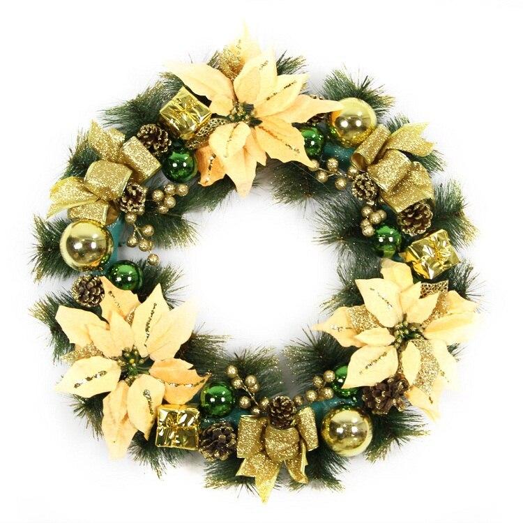 Diameter 40cm 50cm 60cm Christmas Decorative Flowers Wreaths Party ...
