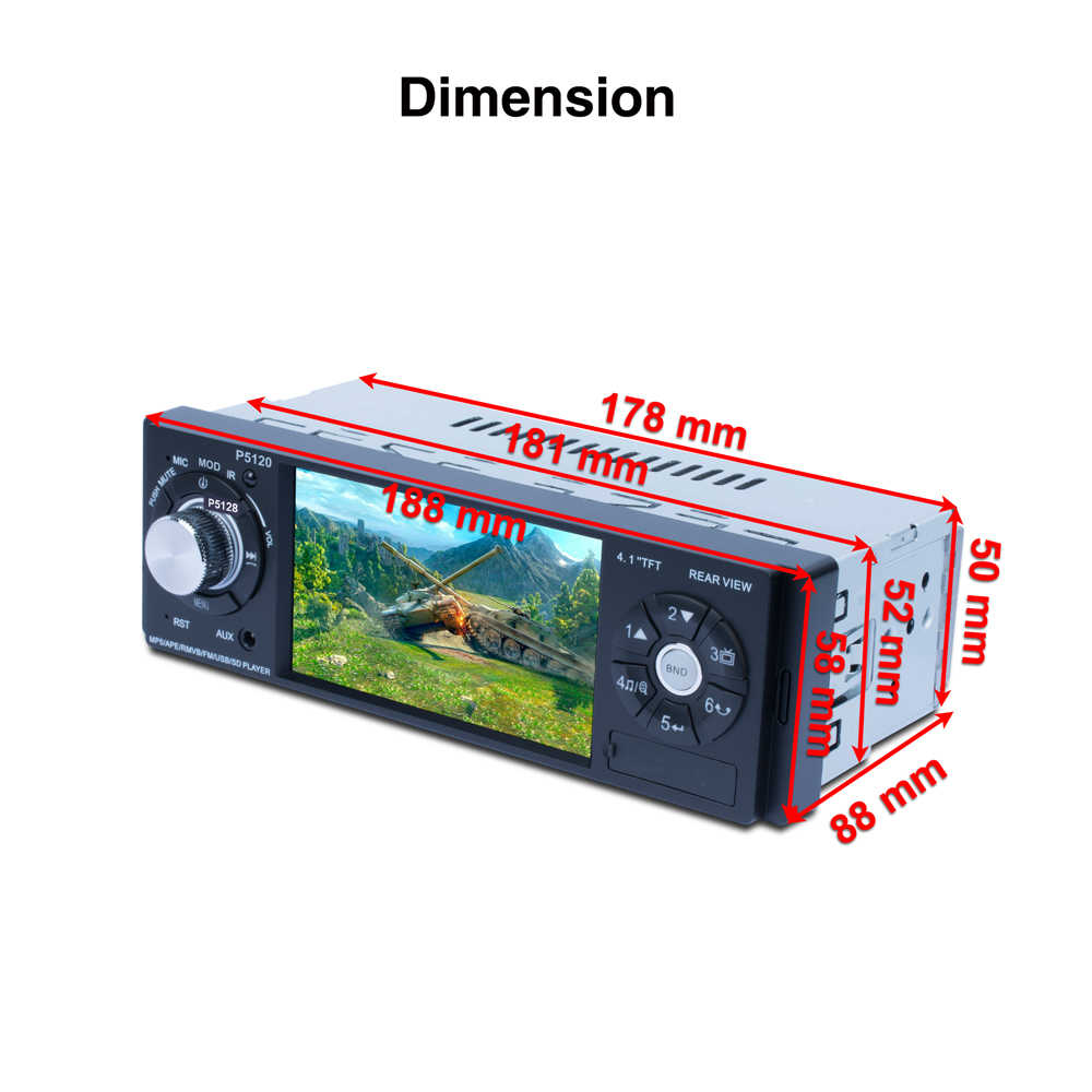 Новый 4,1 ''bluetooth автомобиля MP4 MP5 плеер 1080 P HD Сенсорный экран Поддержка заднего вида Камера громкой связи Bluetooth гарнитура для авто автомобиль аудио видео плеер FM/USB/SD/AU