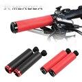 Закрывающиеся силиконовые ручки для руля MTB 22 2 мм  черные и красные ручки для горного велосипеда  высокое качество  Сверхлегкий чехол для ру...