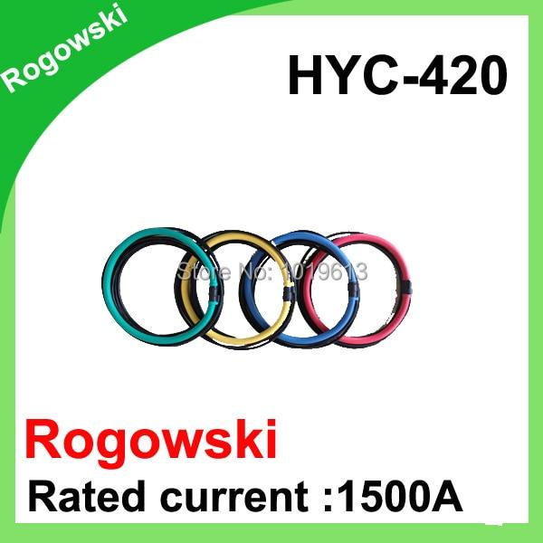 HYC-420 Rated current 1500A Rogowski coil Inner diameter 130mm rogowski coil current sensor petlas ta110 420 85r38 144a8