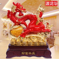 The New Resin Ornaments Wholesale Wealth Win Ruixiang Animal Totem Dragon Ornaments Ornaments Creative Crafts Ornaments