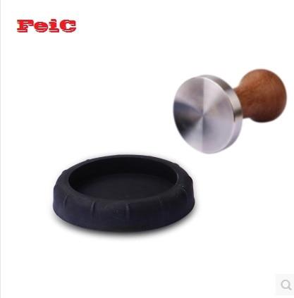 FeiC 1 db fekete szabotázs védőbetét / matt eszpresszó szabotázs pad nyomáscsúszásgátló pad szerszám szilikon matrac a Barista számára