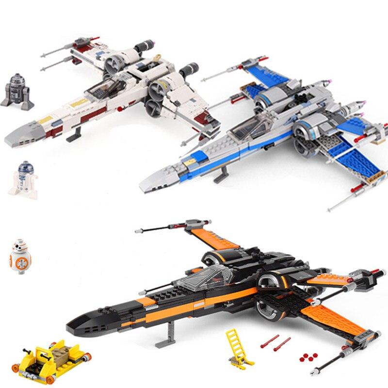 Nova Estrela Guerras Brinquedos X-asa Estrela Plano Conjunto Lutador O Starwars 75218 79209 Blocos de Construção de Tijolos Crianças Natal presentes de aniversário