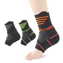2 Pcs Sports Compression Foot Ligament Ankle Bandage Elastic For Sport Gym Brace With Strap Belt Achilles Tendon Retainer Guard