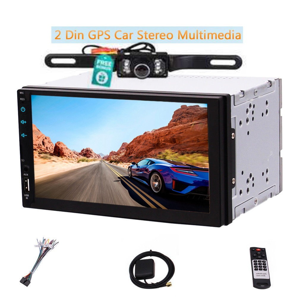 "7"" Universal Car Stereo Android Head Unit Double Din Touch"