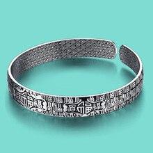 Women's 925 sterling silver bracelet Ethnic Blessing Bracelet open design Solid silver jewelry lady charm bracelet best present