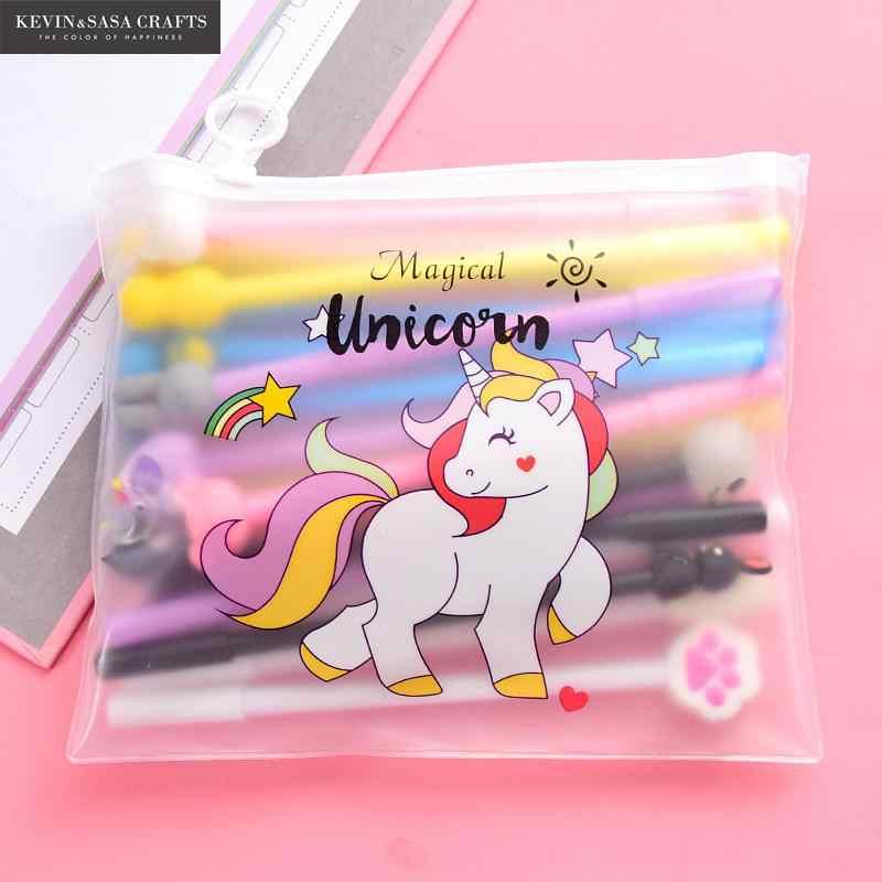 10 ชิ้น/เซ็ตเจลปากกา Unicorn ปากกาเครื่องเขียน Kawaii โรงเรียนซัพพลายเจลหมึกปากกาโรงเรียนเครื่องเขียน Office ซัพพลายเออร์ปากกาของขวัญเด็ก
