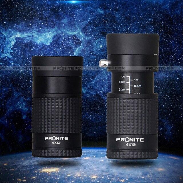 Zoom profesional Monocular 4x12 telescopio impermeable HD portátil telescópico Binocular caza Golf turismo