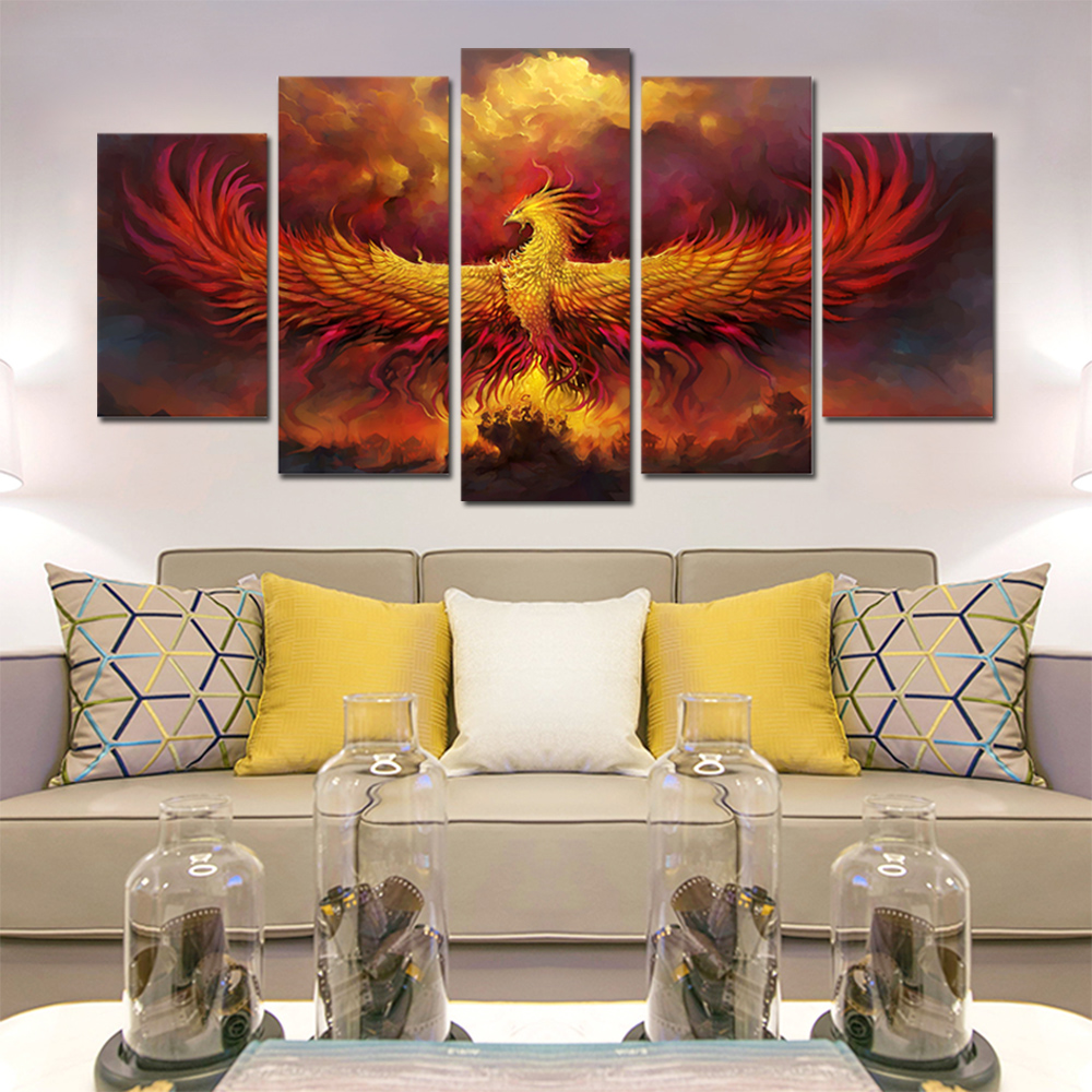 Unframed HD Canvas Prints Phoenix Bird Giclee Wall Decor Prints Wall Pictures For Living Room Wall Art Decoration Dropshipping
