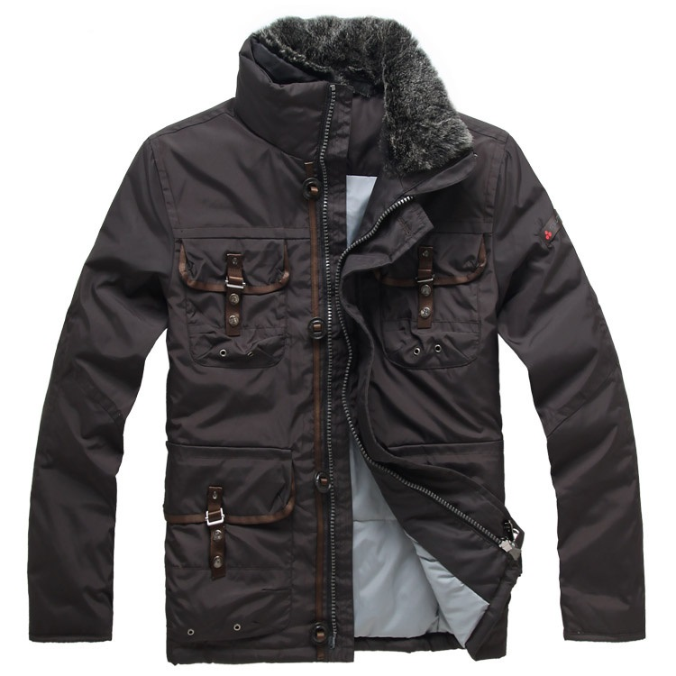 Men Clothing Doudoune Peuterey Italy Men's Brand Down More Uniform Pocket With Detachable Fur Collar Jacket Coat Homme