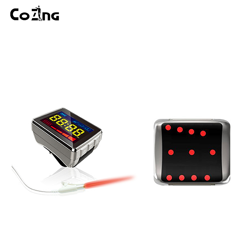 High blood pressure treatment Semiconductor 650 nm low level laser red light watch laser medical instrument blood pressure regulator laser acupuncture laser wrist watch laser treatment therapeutic instrument