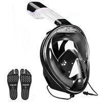 YaHey 2018 Full Face Anti Fog Diving Mask Underwater Sports Swimming Snorkel Masks Scuba Set for GoPro Camera Foldable Breathing