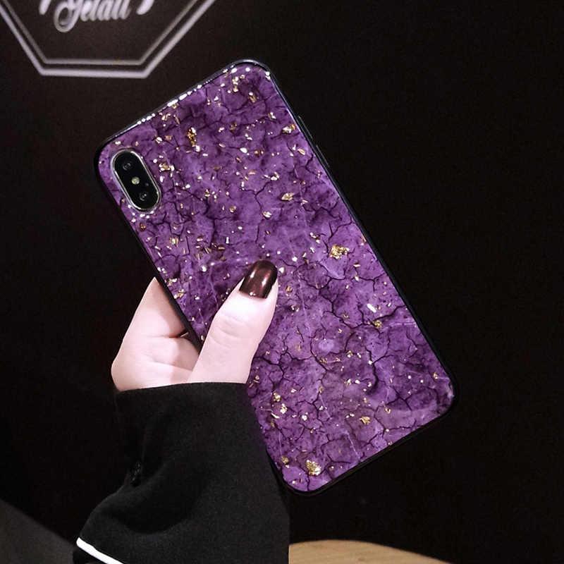 Роскошные блестящие мягкие силиконовые резиновые чехлы для телефонов iPhone XS Max XR X 10 8 7 6 6s Plus, блестящий чехол с мраморным камнем