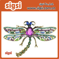 Fashion multicolour Crystal Rhinestones Dragonfly Brooch Pin for Women Jewelry Clothes Dress insect Scarf pin Decoration