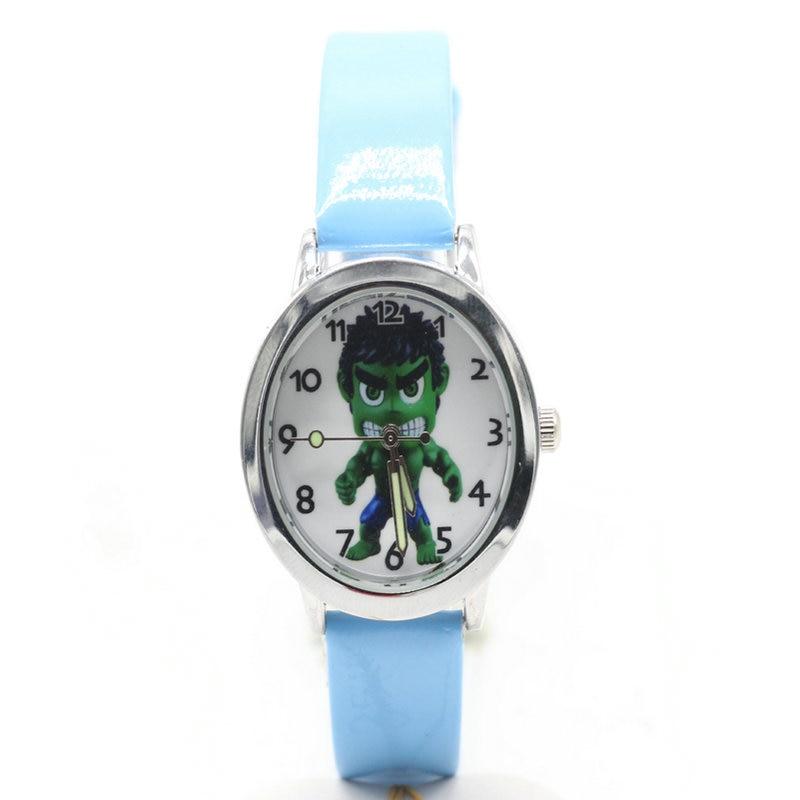 2018 New Avenger Cartoon Captain America Hulk Kids Lady Watch Fashion Casual Digital Style Quartz Leather Watches