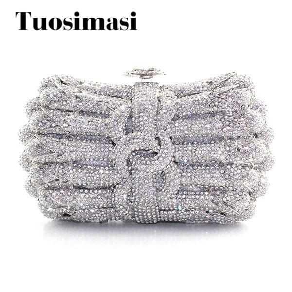 2015 New Fashion handmade lovely sliver bridal clutch handbag 2015 wat498