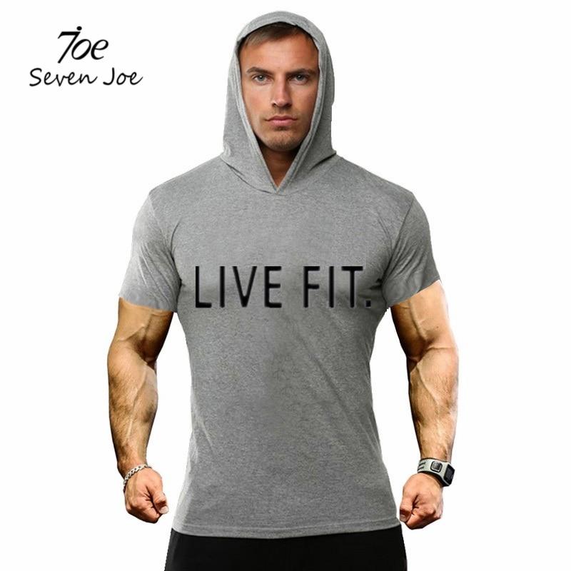 Seven Joe Summer Men T Shirts New Tops Tees Hooded Short Sleeve T