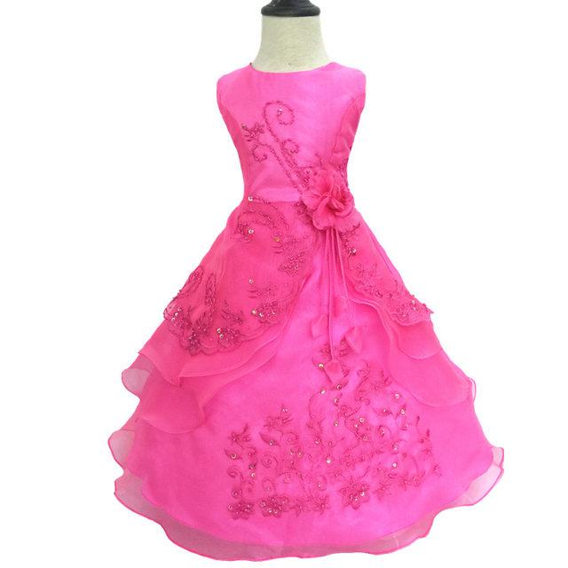 Tienda Online Nicoevaropa niñas graduación vestido Formal bordado ...