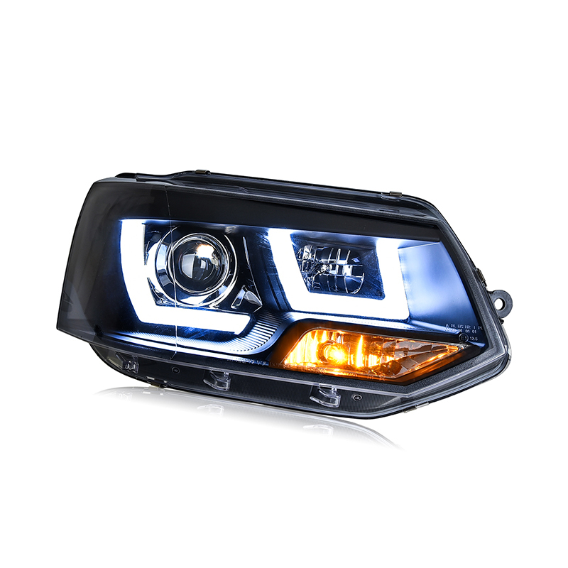 Free shipping Car styling LED HID Rio LED headlights Head Lamp case for V W Multivan