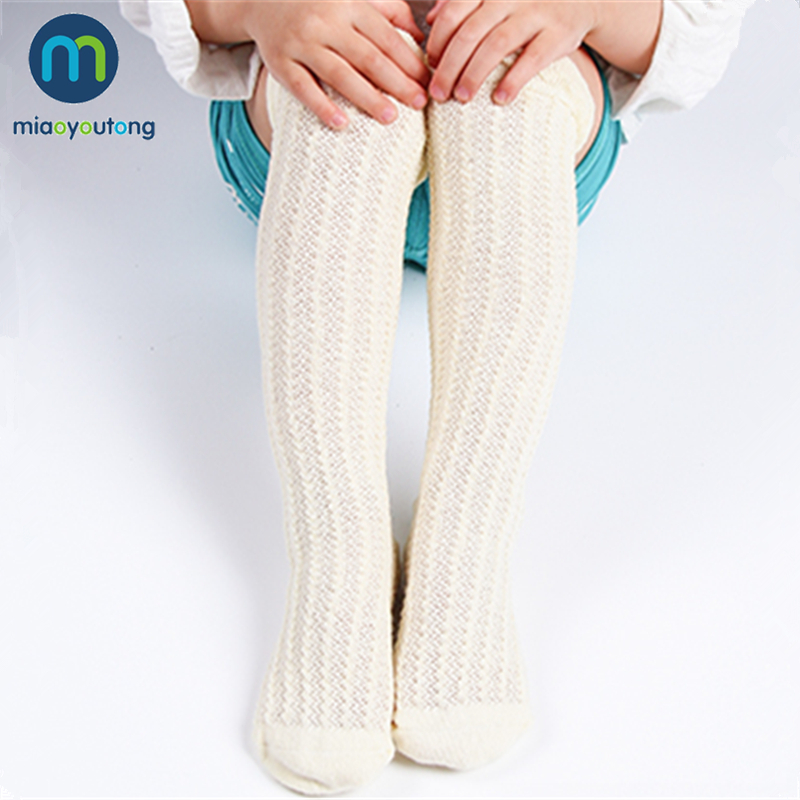 2019 New Cotton Mesh Breathable Soft Socks Affinity Skin Sock Kids Knee High Cute Boys Baby Girls Socks Modis Miaoyoutong