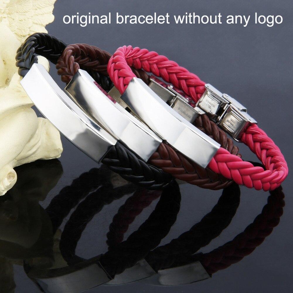 AZIZ BEKKAOUI tilpasset logo ID armbånd navn armbånd par armbånd - Mode smykker - Foto 3