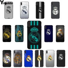 Yinuoda Football Soccer Ball Game LOGO TPU Soft Silicone Black Phone Case for Apple iPhone 8 7 6 6S Plus X XS MAX 5 5S SE XR