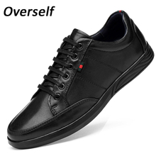 Men's costume sneakers mens formal Cow leather-based sneakers High Quality Business Oxford Genuine Leather Soft Casual Lace Up flats sneakers