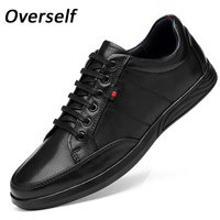Men's dress shoes mens formal Cow leather shoes High Quality Business Oxford Genuine Leather Soft Casual Lace Up flats shoes