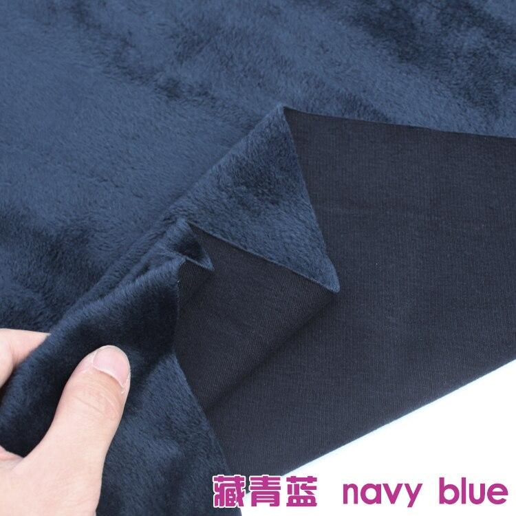 Sweat à capuche thermique en velours de coton | Tissu bleu marine tricoté en coton, vente de 60 pouces de large par la cour