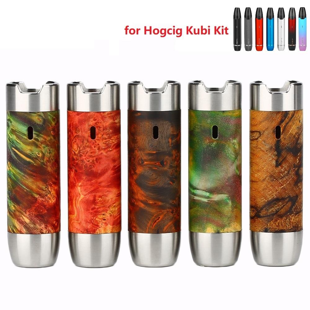New Original Hotcig Kubi Stabilized Wood Sleeve for Hotcig Kubi Kit Refillable Kit E cigarette Vape