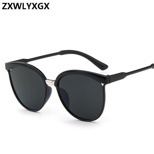 a66bdb60d4 CatEye Gafas De Sol mujer marca diseñador moda revestimiento espejo Sexy Cateye  Gafas De Sol para