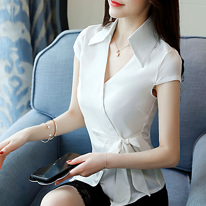 2018 New Fashion Women Shirts Full Sleeve Sexy Mature In -9674